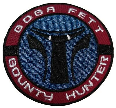 "Star Wars Boba Fett Bounty Hunter 3"" Diameter Embroidered Patch"