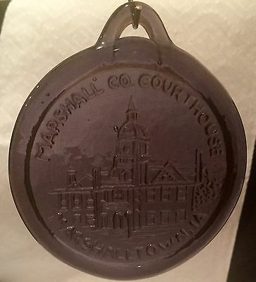 Marshall County Court House M arshalltown Iowa Amethyst Ornament