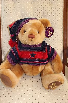 "EUC! 2004 HARRODS Annual Christmas Teddy Bear 13"" Date Embroidered on Foot ,Tags"