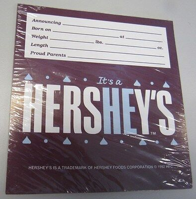 New Sealed Pack Of 48 It's A He Hershey's Candy Bar Wrappers W/sticker Baby Boy