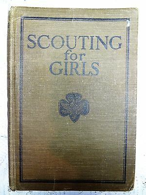Vintage Scouting Girls Hardcover Official 1926 Handbook NInth Green Book USA GS