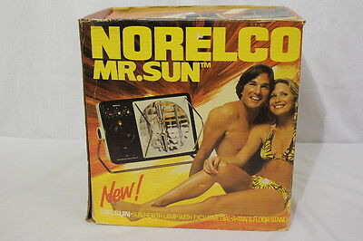 Vintage NORELCO Mr.Sun Deluxe Sun/Health Lamp+Floor Stand HB-5000 ORIGINAL BOX
