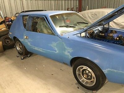 1973 AMC Gremlin X 1973 amc gremlin X Maxi Blue with LEVI Interior