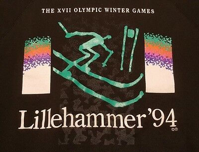 Vintage 1994 Lillehammer Winter Olympic Games Hanes Sweatshirt Youth Large 14-16