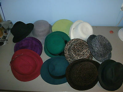 Vintage Women's Hats Lot Of 12