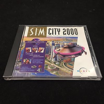 Sim City 2000 Special Edition The Ultimate City Simulator Pc Video Game-Maxis
