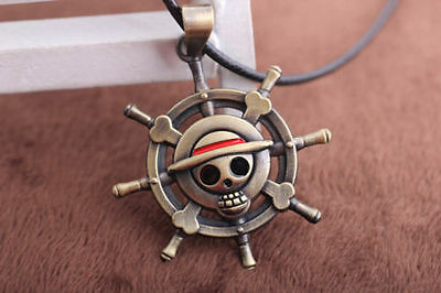 ONE PIECE MONKEY D LUFFY Pirate Flag Metal Necklace cosplay Anime Gift