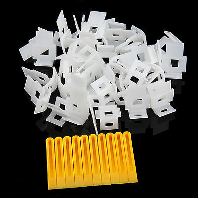 100X Professional Tile Flat Leveling System Wall Floor Balance Wedge Device Kit