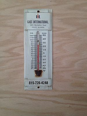 vintage international harvester thermometer,joliet,IL