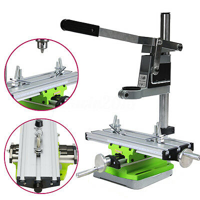 Multifunction Milling Bench Drill Vise Fixture Adjustment Worktable +Drill Stand