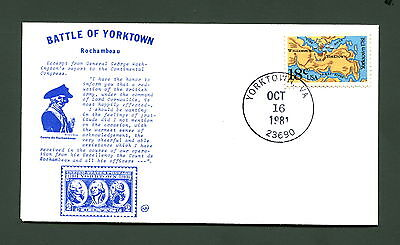 Sc. 1937 Battle of Yorktown FDC - RE Cachets