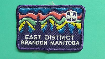 East District Brandon Manitoba Girl Guide Patch