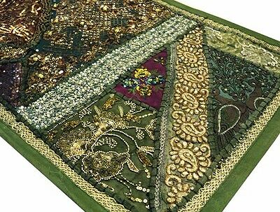"40"" Masterpiece Vintage Art Décor Indian Rare Sari Beaded Wall Hanging Tapestry"