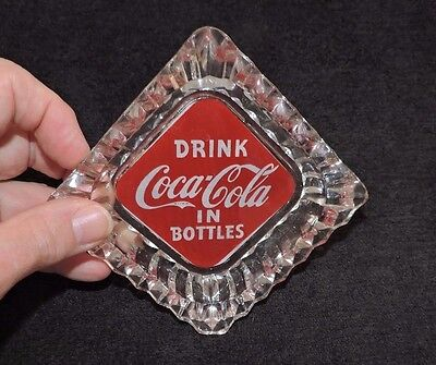 "RARE ANTIQUE ORIGINAL 1940's "" COCA COLA  ""  ASHTRAY  ""  NICE  """