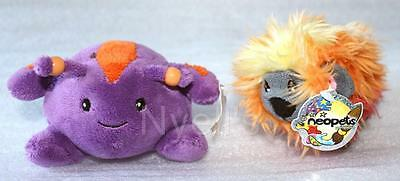 Purple Hasee & Fire Noil ~ Neopets Petpet Rare Plush Limited 2002 Toy New Tags