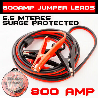 800amp Jumper Leads Surge Protected 5.5m Long Booster Cables Heavy Duty