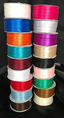 3mm width Double Sided Satin Ribbon - Various Colours 10 metre length