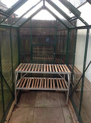 Elite Greenhouse powdercoated green compact 8ft 5in X 4ft 5ins
