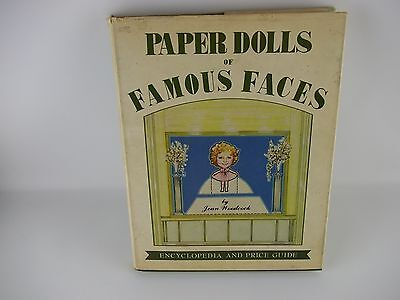 Paper Dolls of Famous Faces Book by Jean Woodcock Signed 1980