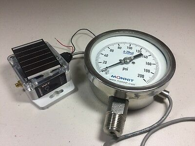Monnit Wireless Pressure Sensor And Gauge