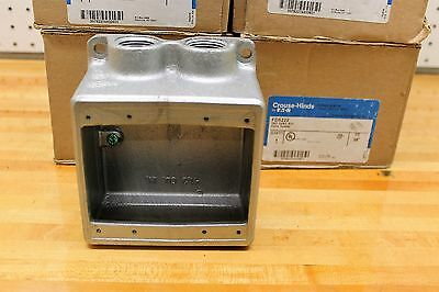 """LOT OF 3 Crouse Hinds FDS222 TWO GANG CAST DEVICE BOX 3/4""""  NEW IN BOX"""
