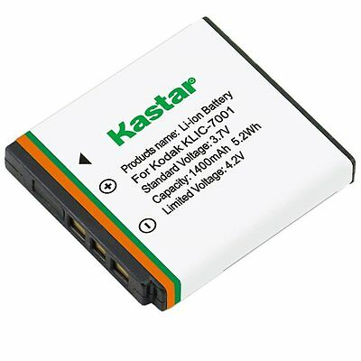 Kastar KLIC-7001Battery for Kodak EasyShare M320, M340, M341, M753 Zoom, M763,