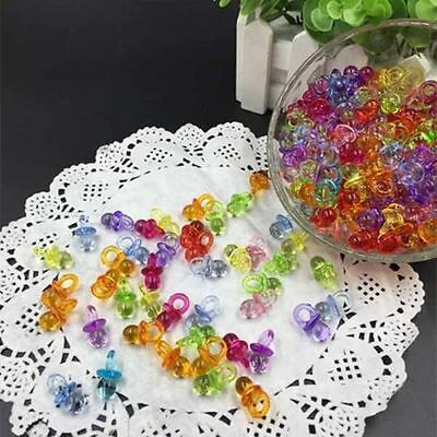 50Pcs Clear Baby Shower Favors Mini Pacifiers Girl Boy Party Decorations US