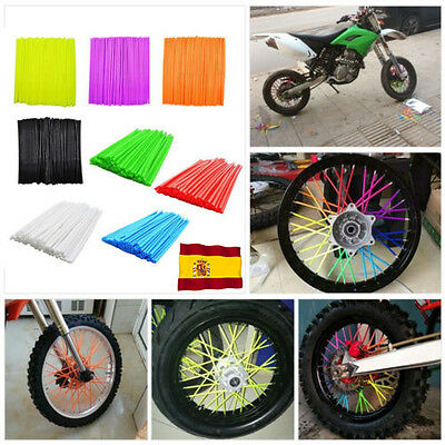 72Pcs Couvre rayons FLUO motocross roue moto cross enduro couvre cover skins