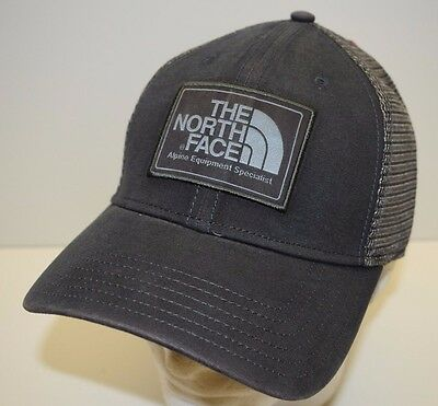 The North Face Mudder Trucker One Size Adjustable Snapback Hat Cap Graphite NEW