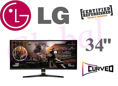 "LG 34"" 34UC79G Ultrawide LED Computer Gaming Monitor Curved QHD IPS widescreen"