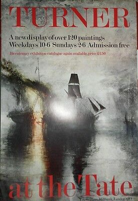 Turner At The Tate Gallery Poster