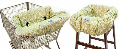 Itzy Ritzy Shopping Cart and High Chair Cover Avocado Damask, New