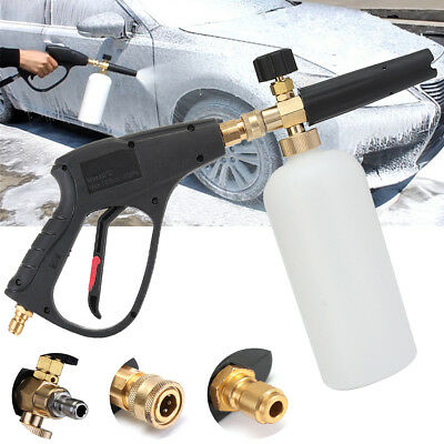 High Pressure Washer Gun Snow Foam Lance Set Car Wash Clean Water Jet Cannon 1L