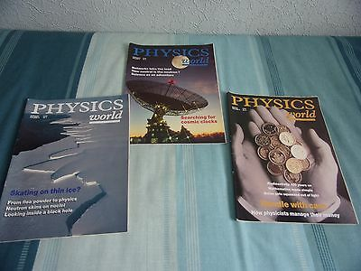 3 Physics World Magazines Jan 1996, Feb 1996 and March 1996 used