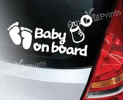 Baby On Board car stickers sign Vinyl decal funny cute present girl boy gift