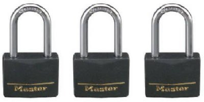 Master Lock 3-Pk. of Keyed-Alike Vinyl-Covered Brass Padlocks - Model# 141TRILF