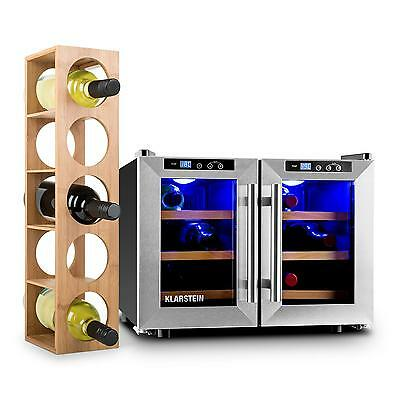 Klarstein Reserva Wine Set 2-pc Wine Refrigerator Wine Rack Hotel room Bar