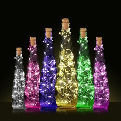 20/30/50LED Cork Shaped Night Light Starry Lights Wine Bottle Lamp Wedding Party