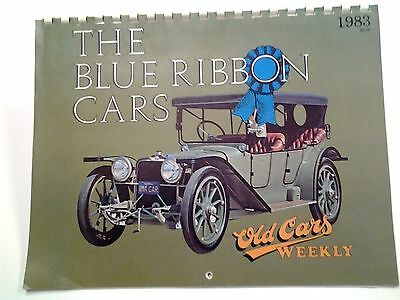 Vintage 1983 Old Cars Weekly The Blue Ribbon Cars Calendar