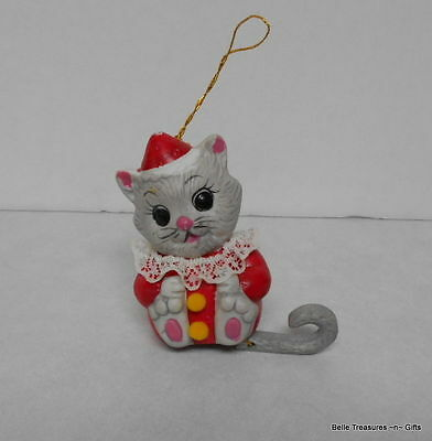 Tattle Tails Christmas Tree Ornament Kitty Cat Figurine