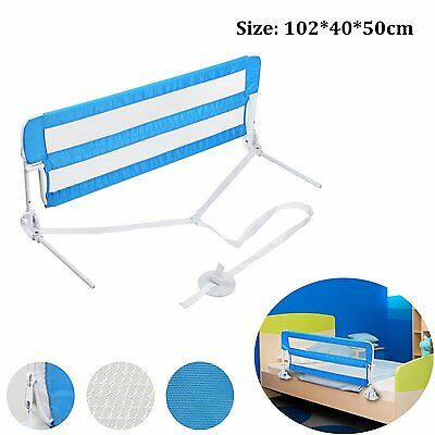 102cm Bed Guard Kids Toddler Baby Metal Bed Rail Folding Sleep Safety Protection
