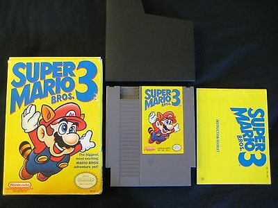 Mario 3 NES CIB Box and Manual