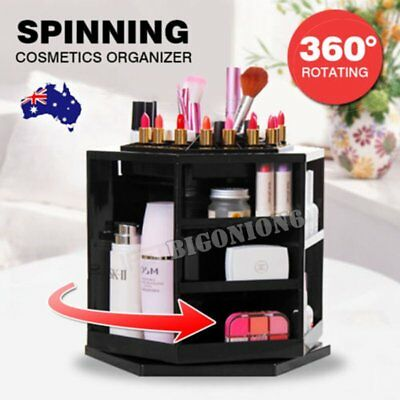 360 Degree Spin Cosmetic Makeup Organizer Box Storage Rack Case Stand Holder OZ