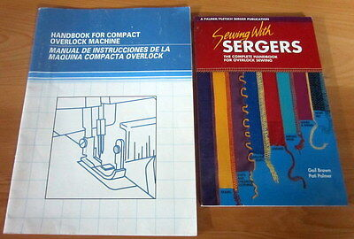 "2 books "" Sewing with Sergers "" & "" Handbook for Compact Overlock Machines """