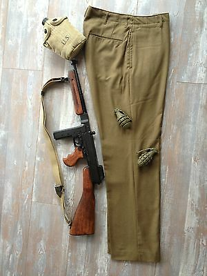 Pantalon Moutarde Us Taille 38 Ww2 Militaria Jeep