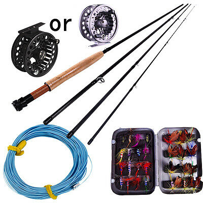 Fly Fishing Rod with Metal 5/6 Fly Reels and Fly Fishing Line Lures Combo Kits