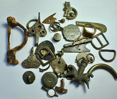 Metal detecting finds.
