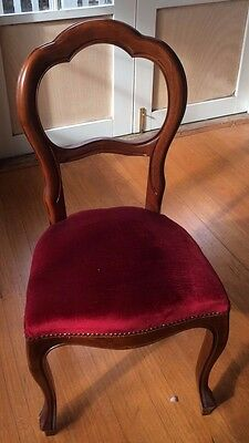 balloon back mahogany reproduction dining chairs x 6