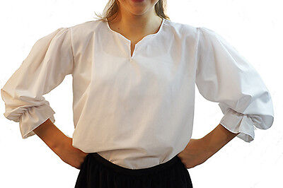 Pirate/Buccaneer/SteamPunk/Victorian/Tudor/ BASIC WHITE SHIRT In All Sizes/Ages
