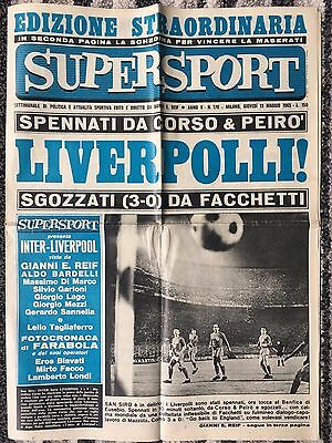 1965 EUROPEAN CUP SEMI FINAL INTER MILAN v LIVERPOOL + FINAL INTER v BENFICA